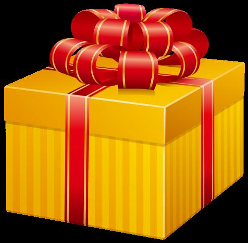 Yellow Present Box PNG Clip Art Caixa de presente