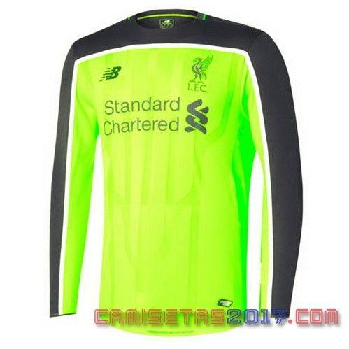 Camiseta manga larga Liverpool 2016 2017 Tercera
