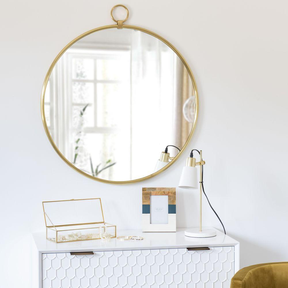 Miroir En Metal Dore 80x89 Pasadena Maisons Du Monde Muebles De Comedor Decoracion De Muebles Objetos De Decoracion