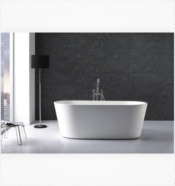 Ovale 67 Composite Acrylic Free Standing Bathtub Soaking