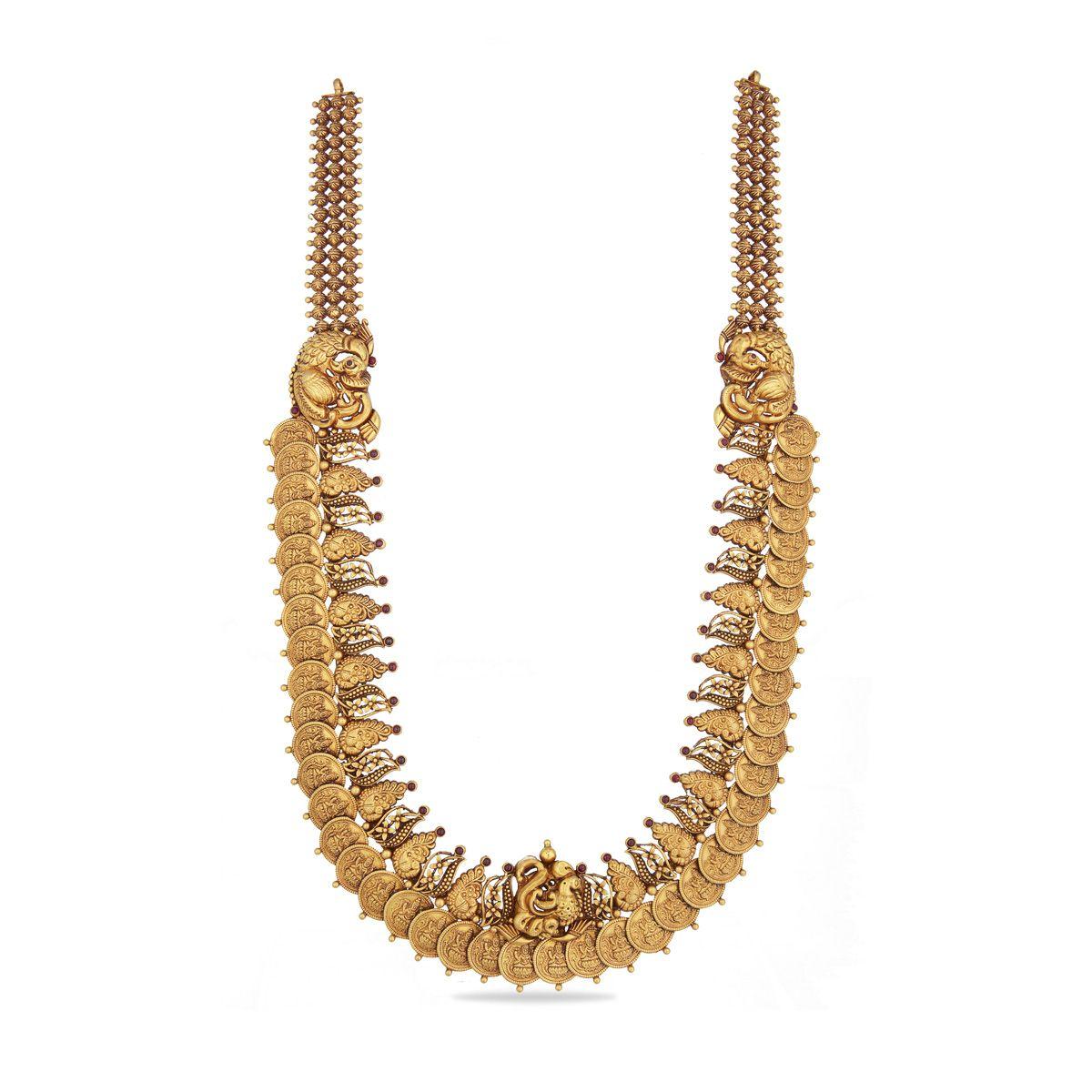 Indian Gold Necklace Online | 22K Gold Necklace Set Online ...