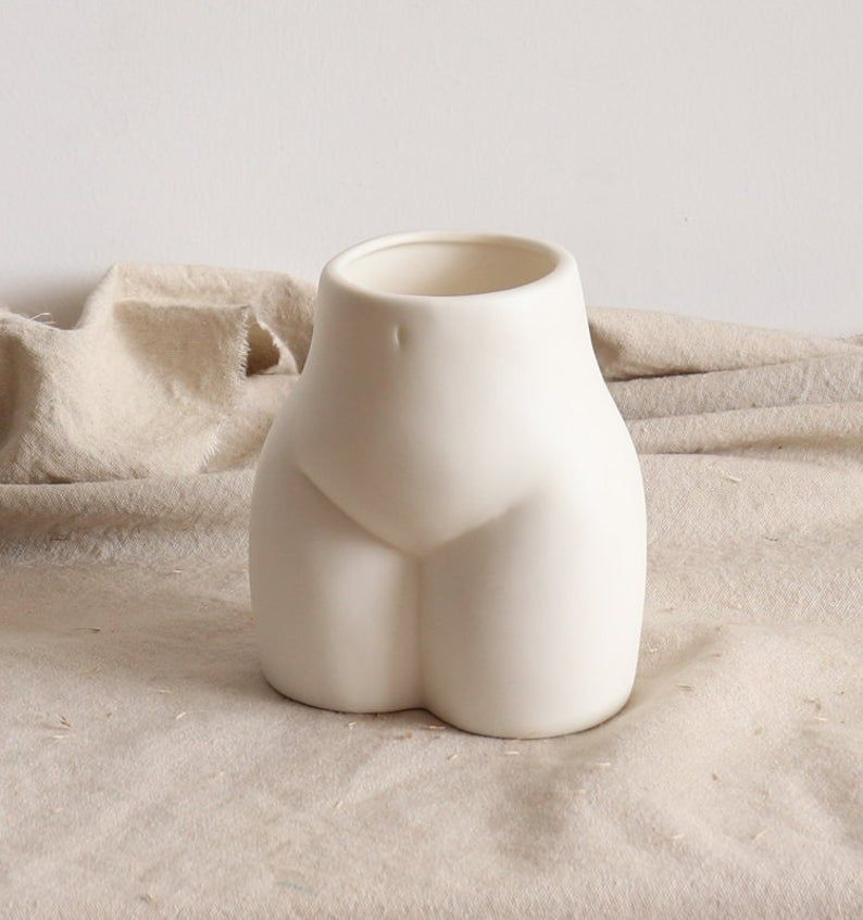 Lady Body Art Vase Nordic Vasemodern Home Decorwhite Ceramic Etsy In 2020 Ceramic Vase Handmade Ceramics Vase Flower Vase Gift