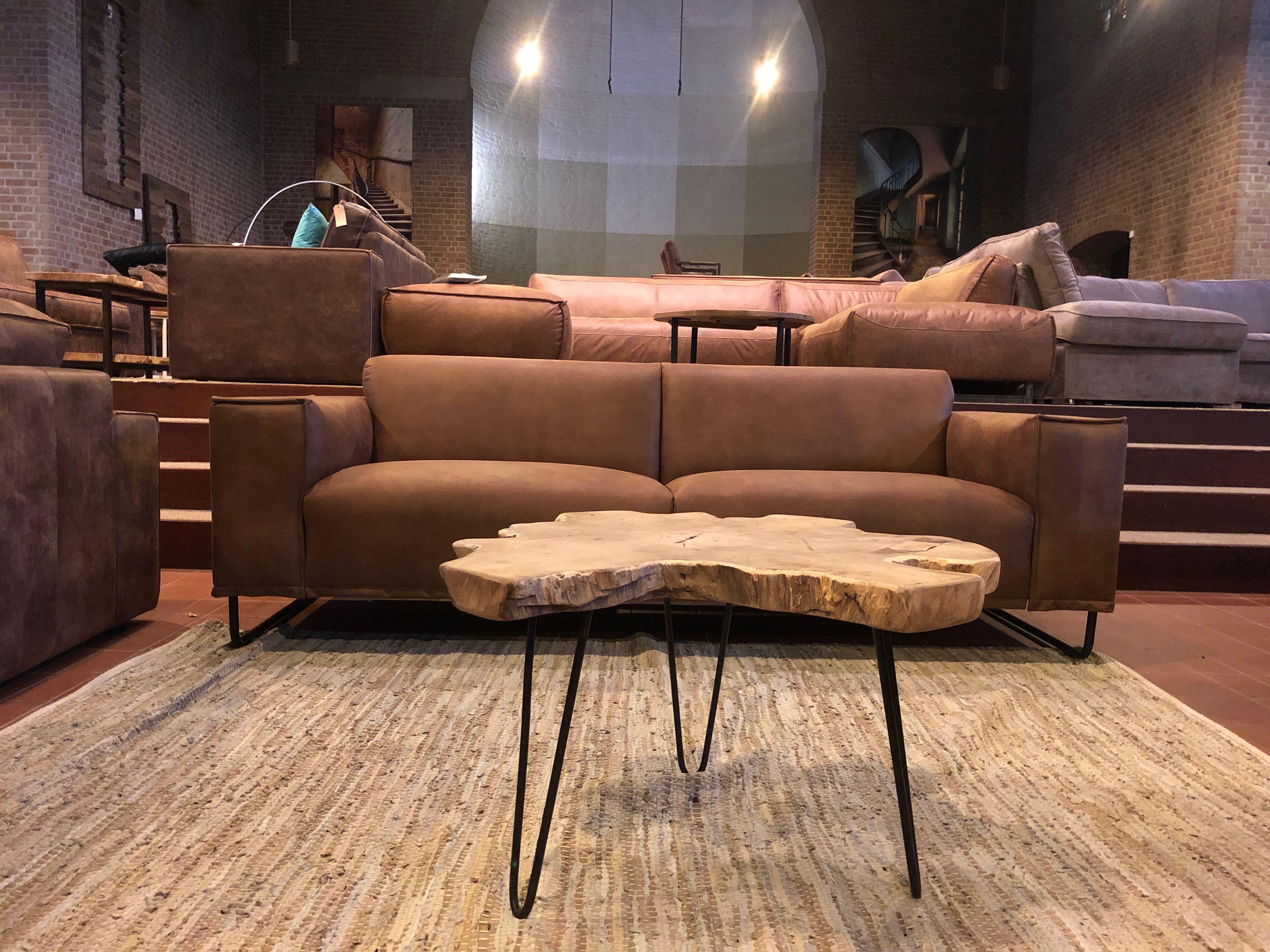 Design Sofa Brent In Leder Und Stoff Im Angebot Bei Mokana