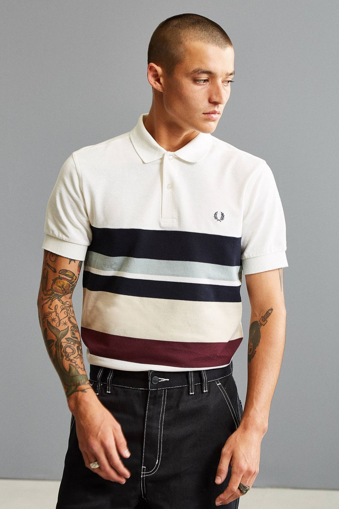 a60d0a4528 Fred Perry Stripe Pique Polo Shirt | New Arrivals | Pique polo shirt ...