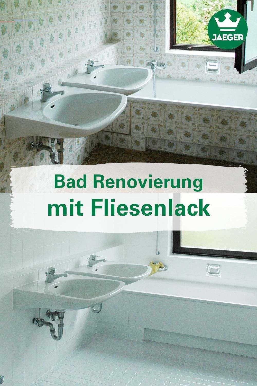 Bad Renovierung Mit Fliesenlack Fliesenstreichen In 2020 Bathroom Renovation Laundry Room Decor Painting Tile