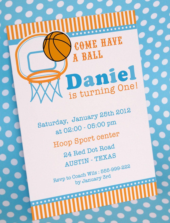 Basketball Birthday Invitation Basketball birthday