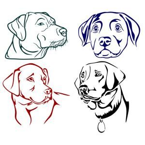 Download Labrador Dog Lab Cuttable Designs | Dog stencil, Dog line ...