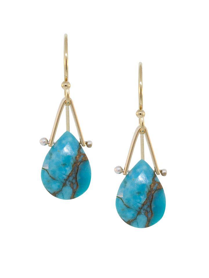 Lulu Designs Birch Turquoise Earrings