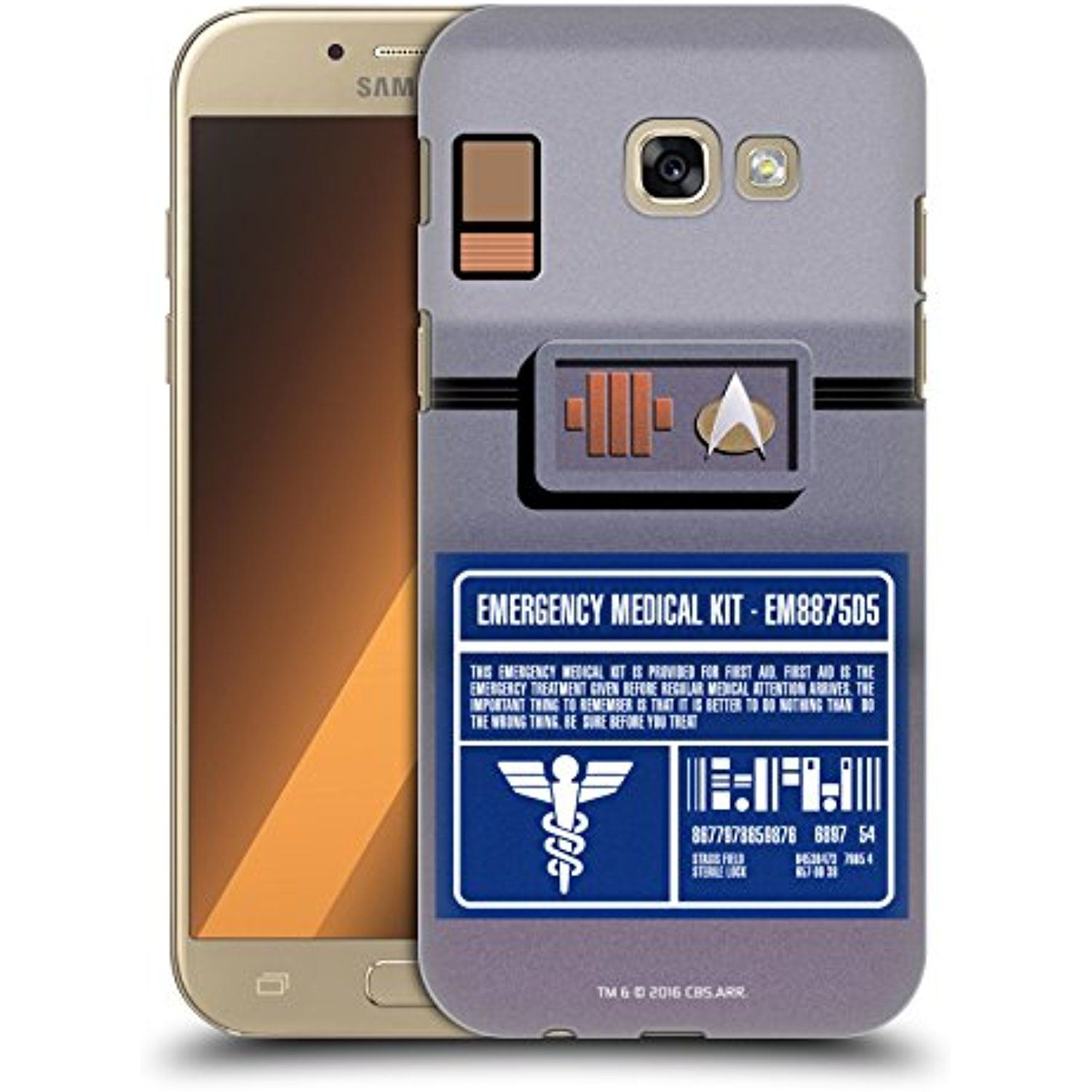 ficial Star Trek Medical Kit Gad s TNG Hard Back Case for Samsung Galaxy A5 2017
