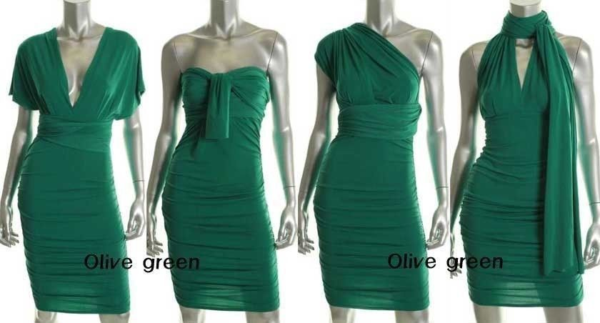 Victorias Secret Ruched Multi Way Convertible Dress Bridesmaid Tail Party Xs Victoriecret Multiwaydress
