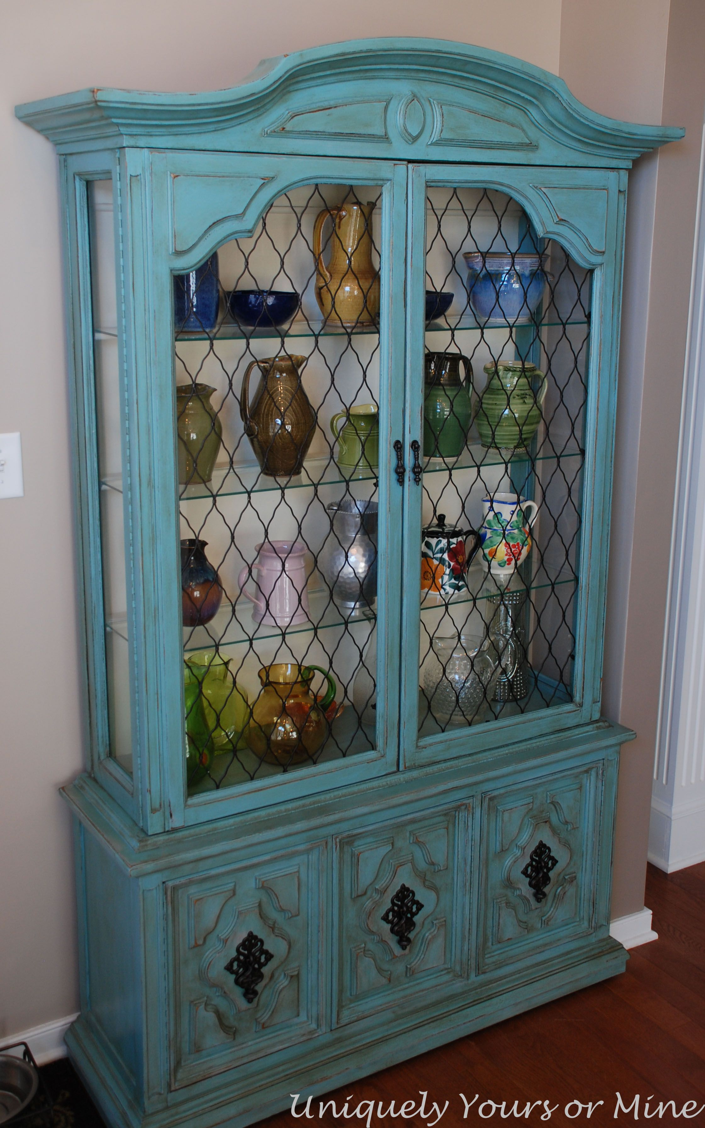 fretwork back china painted repurpose inspirations with hutch salvaged remove to cabinet it how