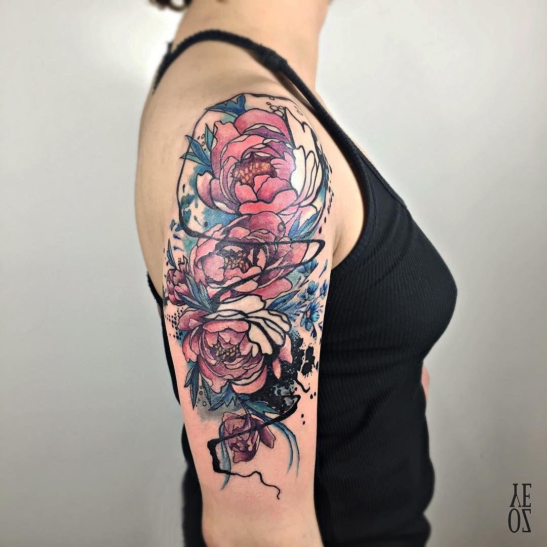 Watercolor Half Sleeve Half Sleeve Tattoo Tattoos For Women