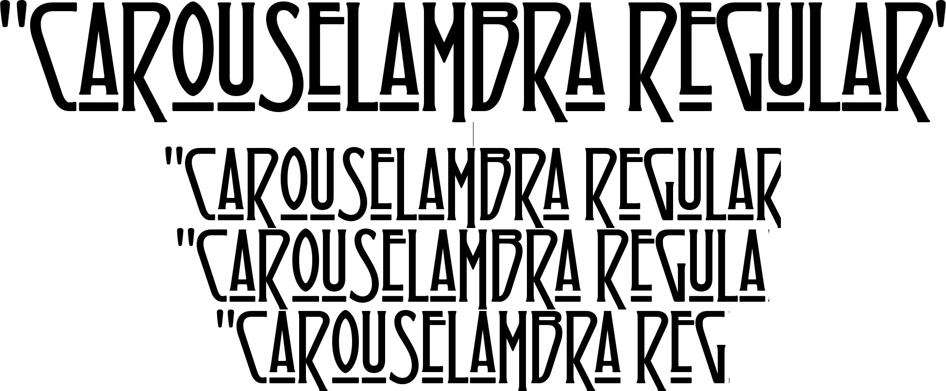 Similar Fonts To Carouselambra