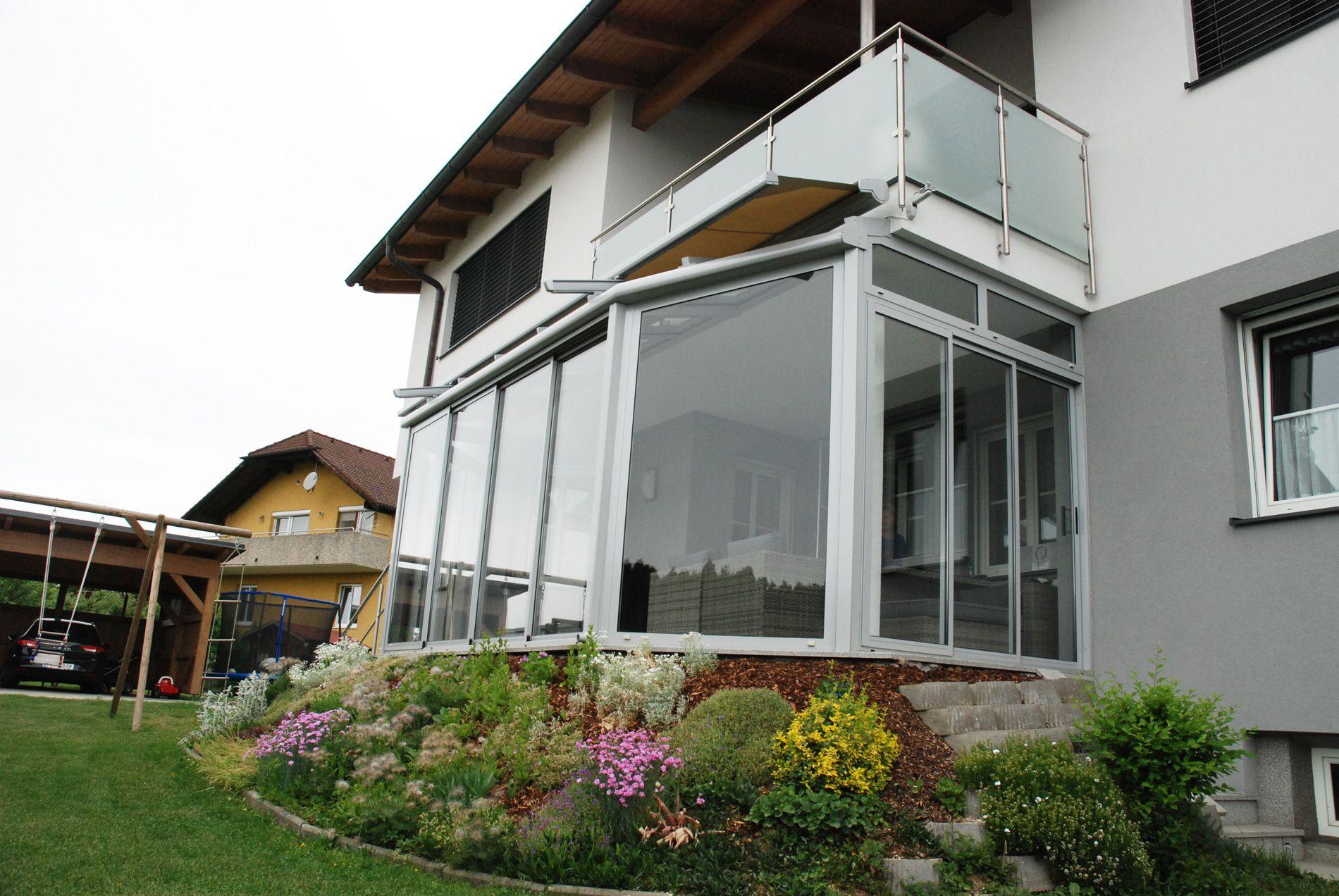 Pultdach Wintergarten Isolierglas Und Dachbeschattung