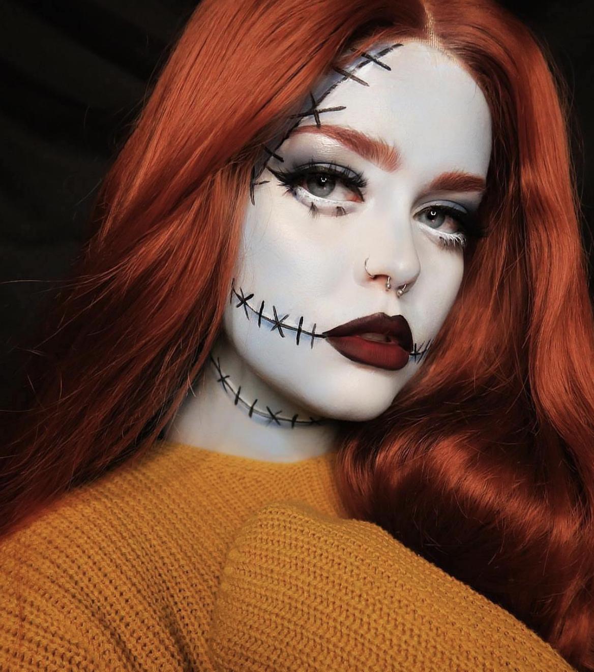 ashkmakeup Halloween makeup diy, Jack and sally, Clown