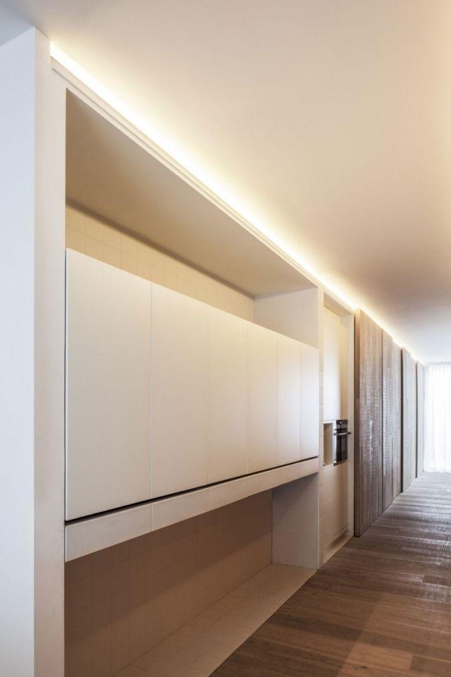 moderne wohnung küche matt weiß eingebaut | INNArchitektur ...