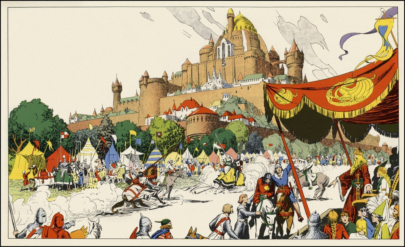 Image result for hal foster prince valiant