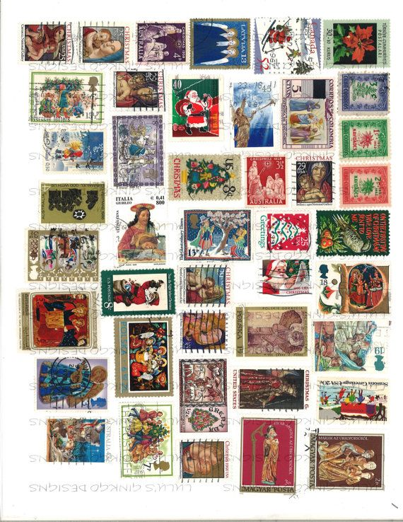 image relating to Stamps Printable called Electronic Collage Sheet-World-wide Postage Stamps-Xmas