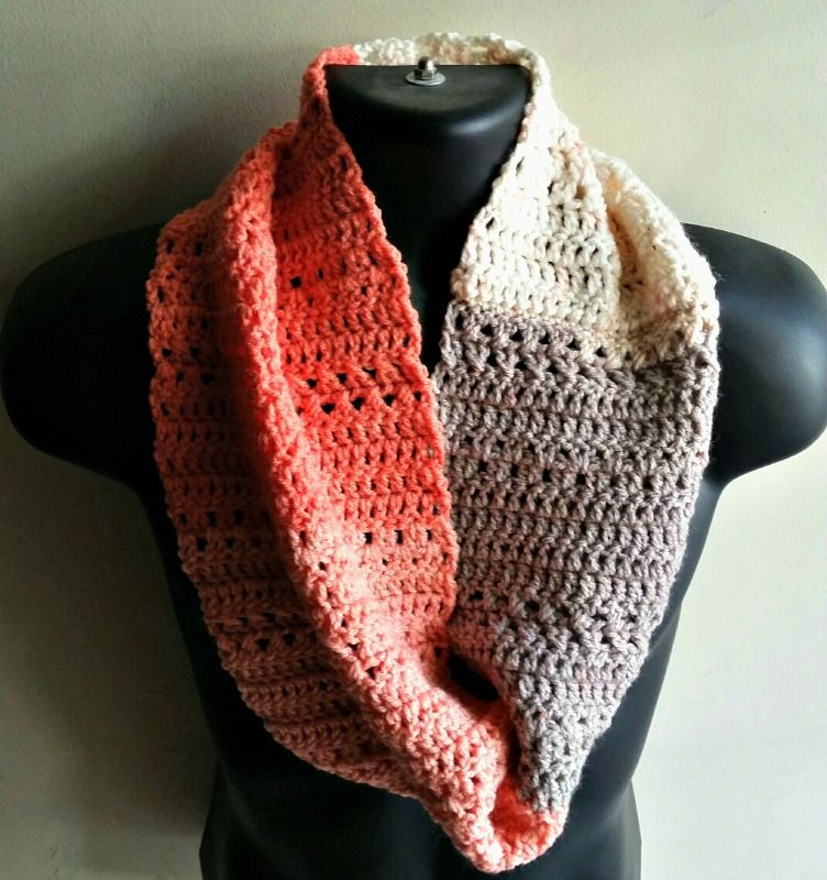 Here is a scarf I created using the leftover Caron Cake yarn I used ...
