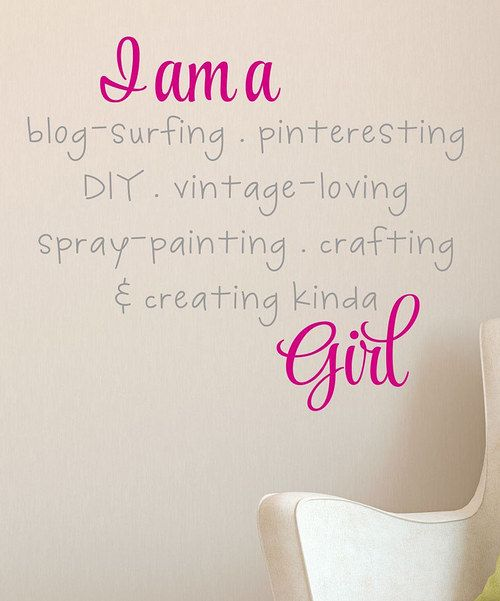 Love this Pink I'm A Crafty Girl Decal by Wallquotes.com by Belvedere Designs on #zulily! #zulilyfinds
