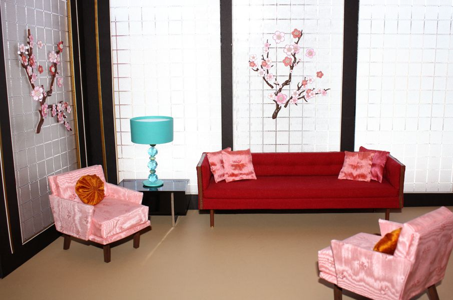 """""""Art of the Diorama"""" - Dolls magazine article 2012.  Red and Pink - a fabulous color duo!"""