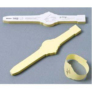 Sticky Note Wrist Watch (aka awesome)