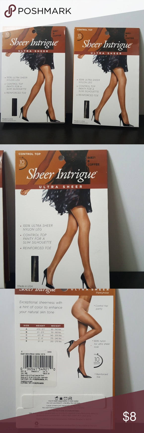 cfe5a3366bb NWT Sheer Intrigue Hosiery x 2 Pantyhose Coffee This is a pair of  brand-new