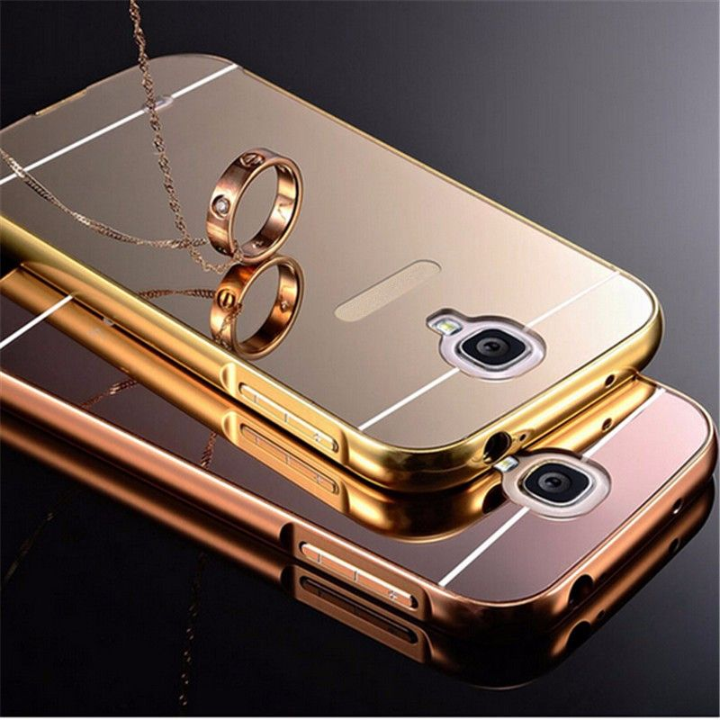 Mirror Case For Samsung Galaxy S3 S4 S5 S6 S7 Case Aluminum Metal Frame  Acrylic Back fe896cd88219