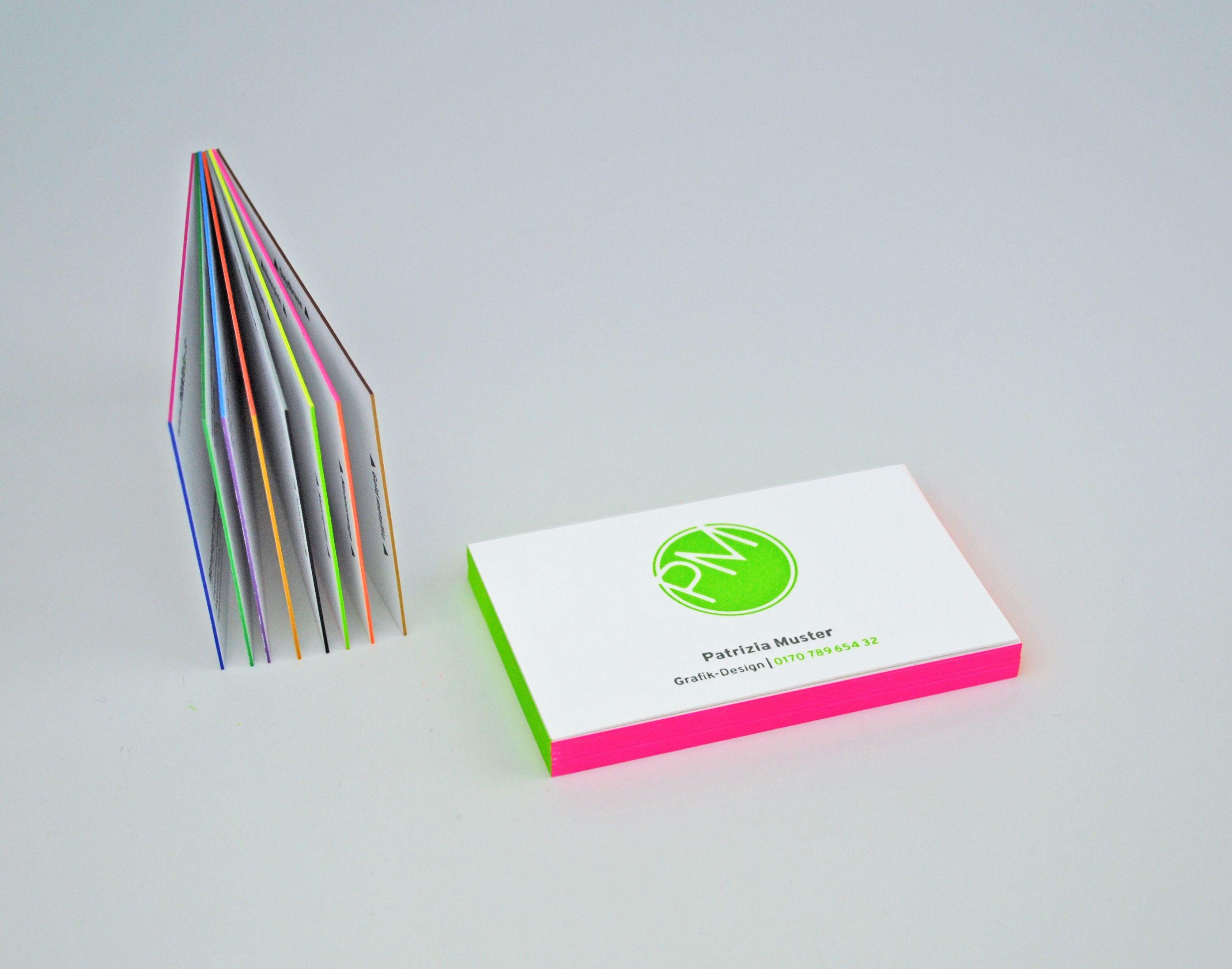 Visitenkarten Farbschnitt Farbschnitt Visitenkarten