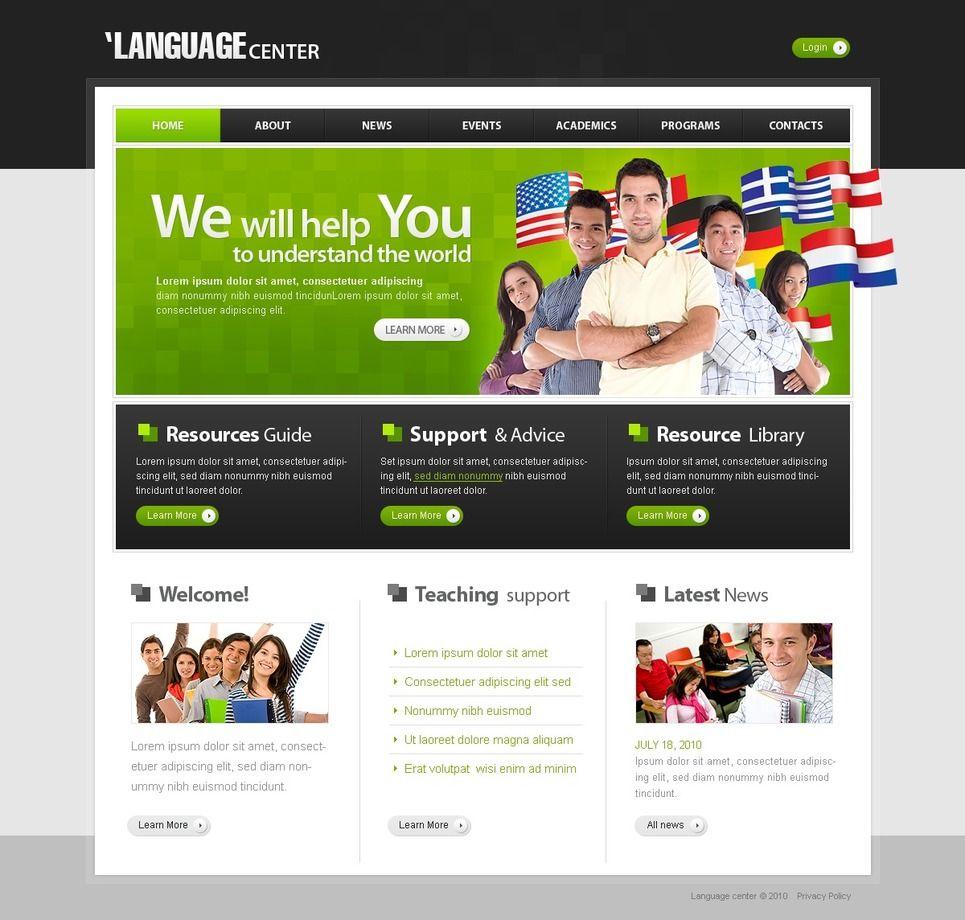 Language School Psd Template 29038 Psd Templates Language
