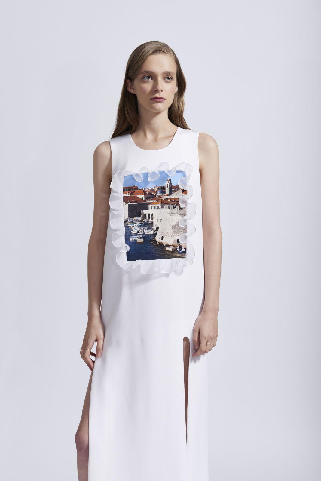 POSTCARD DRESS Fashion, Outfits, Silk organza