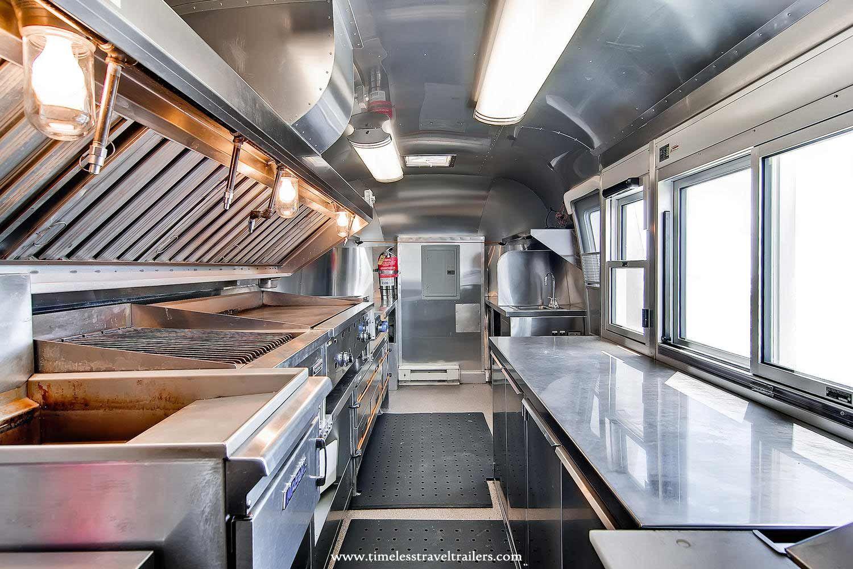 High end kitchen in an airstream airstream interior