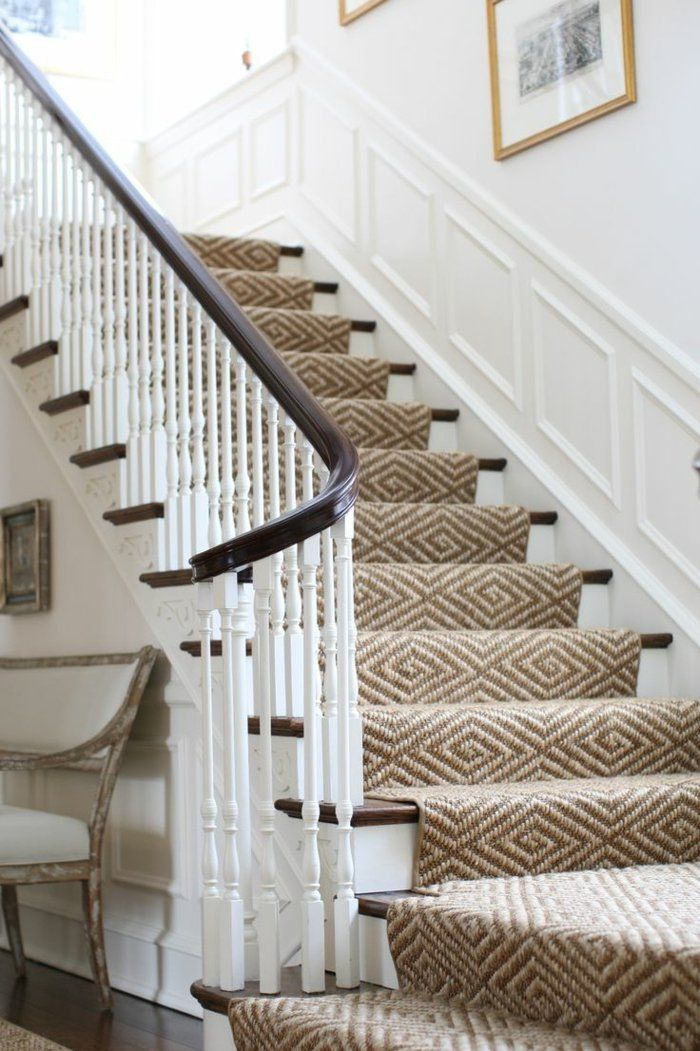 le tapis pour escalier en 52 photos inspirantes escalier pinterest moquette escalier. Black Bedroom Furniture Sets. Home Design Ideas