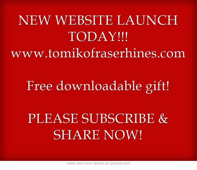 New Website Launch Today WwwTomikofraserhinesCom Free