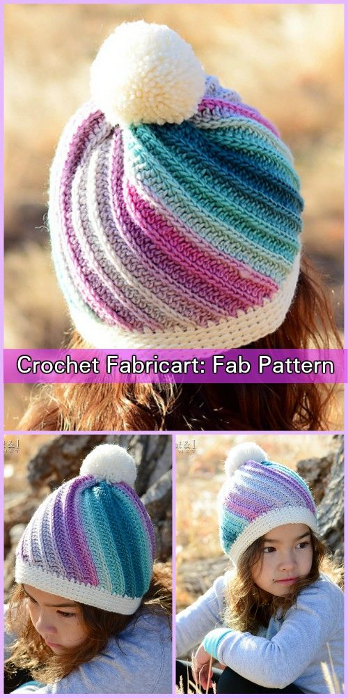 on sale 1fca6 feaa2 Crochet Twist Top Beanie Hat Pattern | Häkeln | Mütze häkeln ...