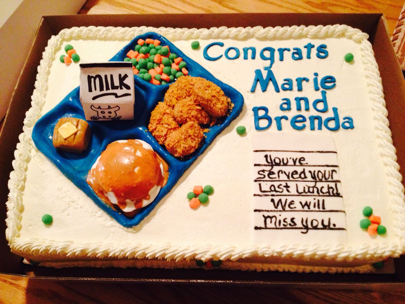 Lunch Lady Retirement Cake