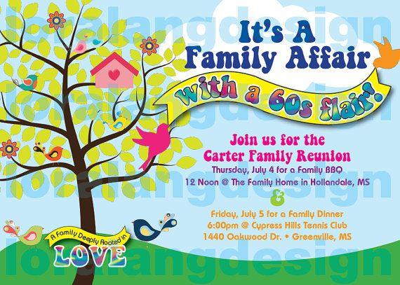 Exceptional DIY Printable 60s Themed Family Reunion Or By Loralangdesigns Nice Look