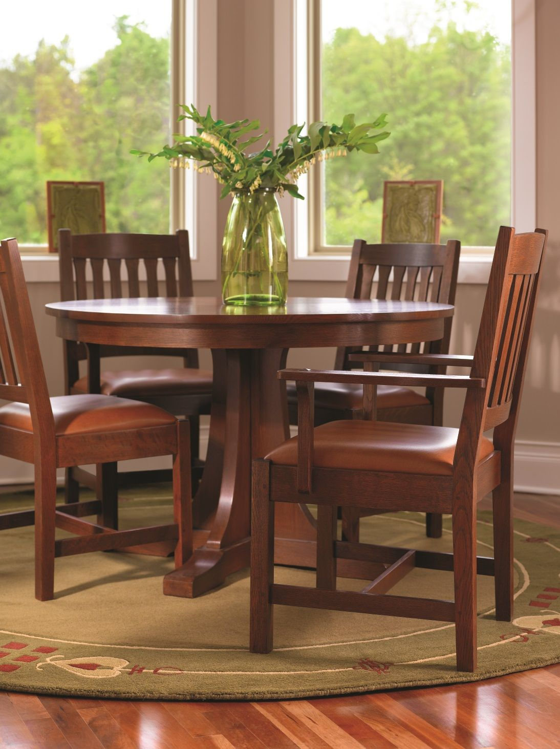Stickley Mission 713 Dining Table And Cottage Chairs