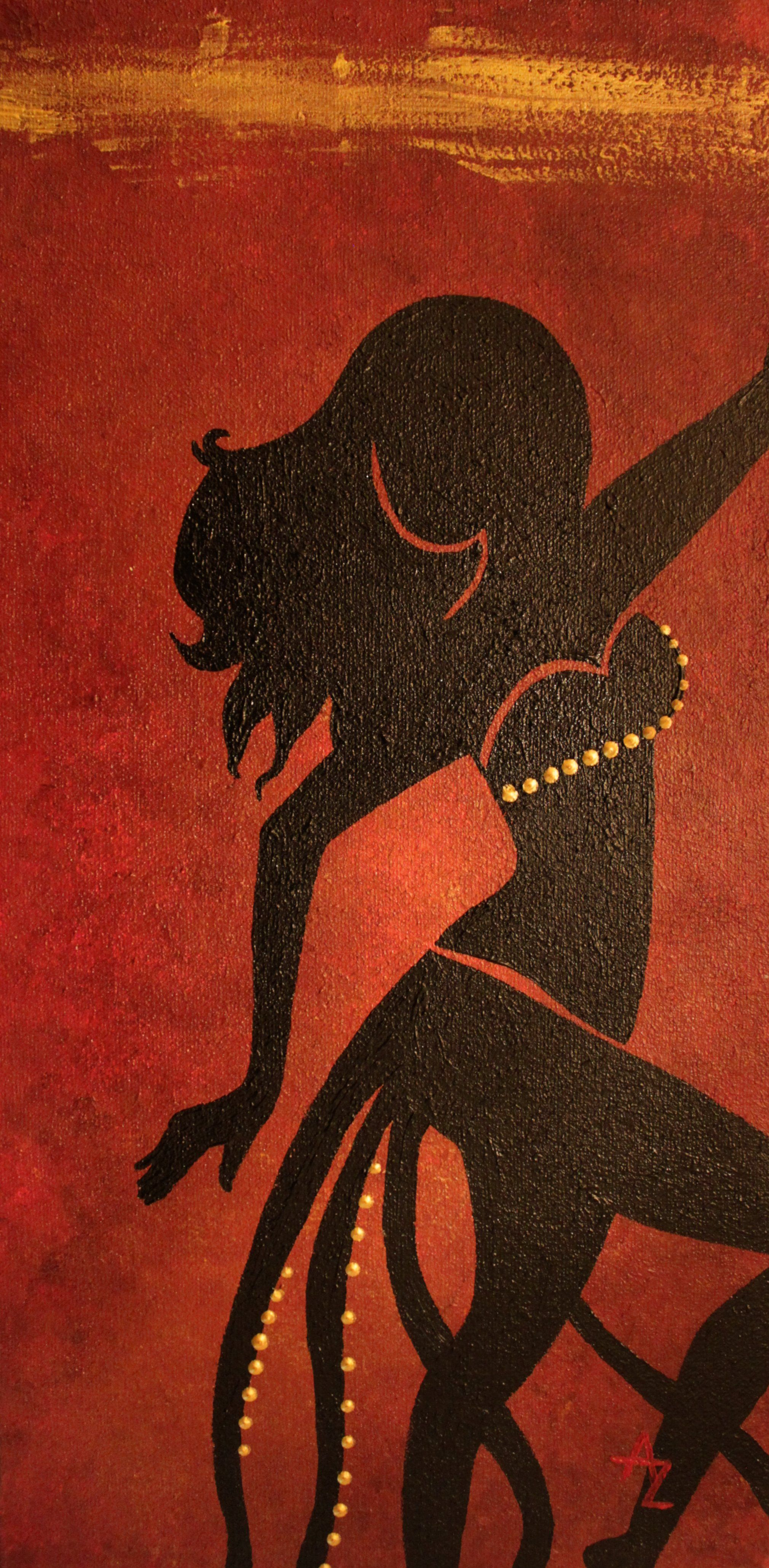 a3cce6b79c19 Peinture silhouette de danseuse orientale. Peintre   Audrey Laprade -  Bellydancer painting. Painter   Audrey Laprade.  baladi  bellydance   peinture   ...