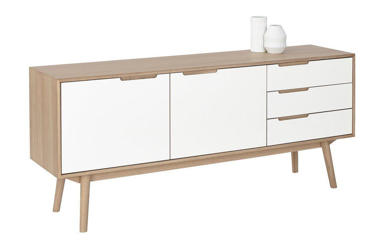 Designhouse Sideboard Curve White Oak Im Nordischen Design