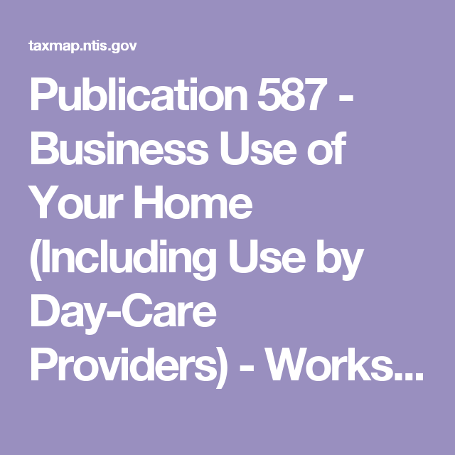 Business Use Of Your Home (Including Use