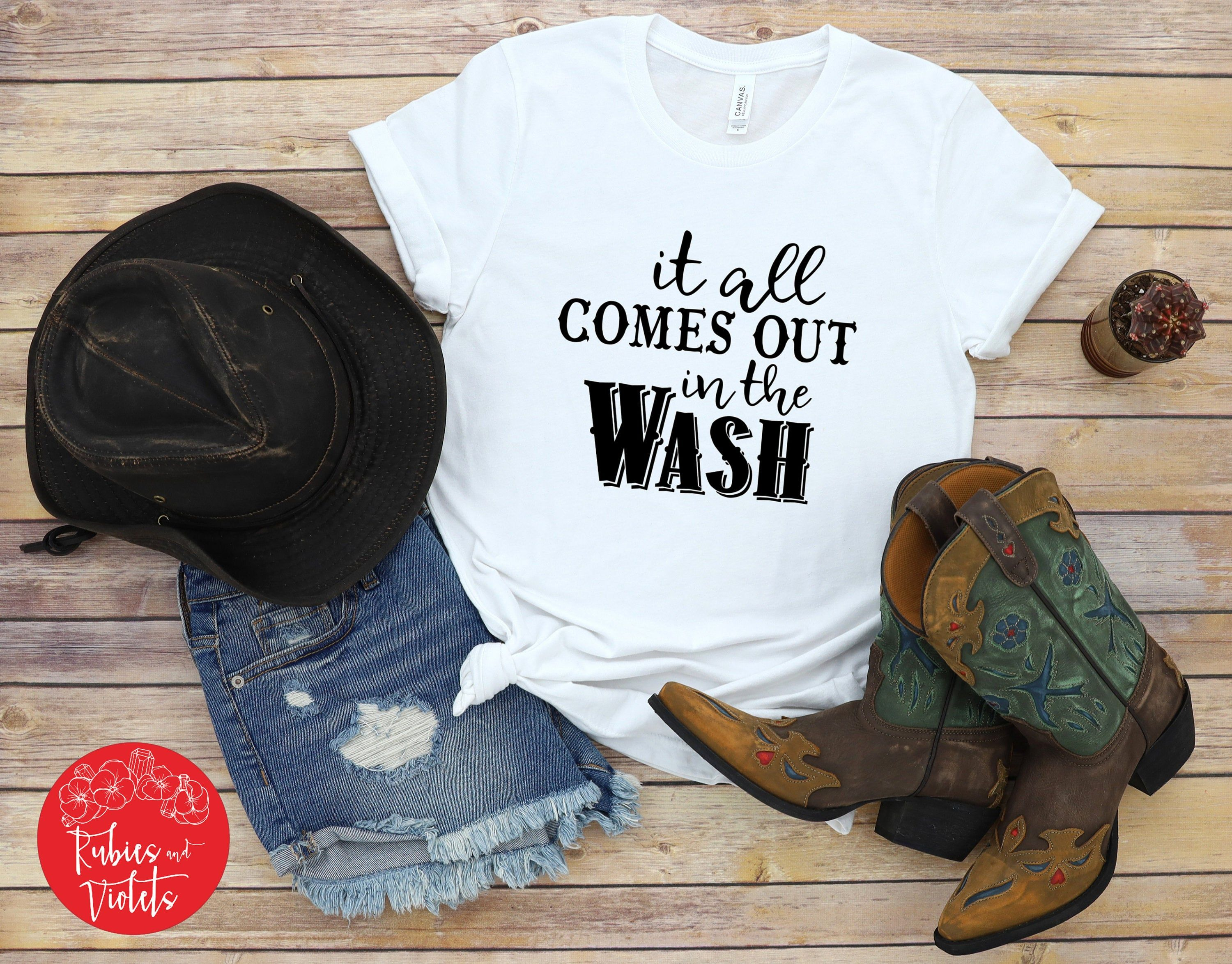Miranda Lambert Short Sleeve Shirt It All Comes Out In The Wash