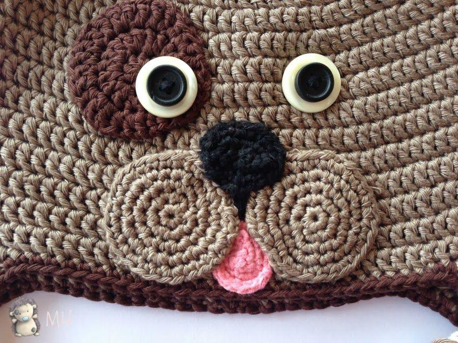 Amigurumi Lion Perritos : Cara perrito a crochet patrón gratis en español para usar en