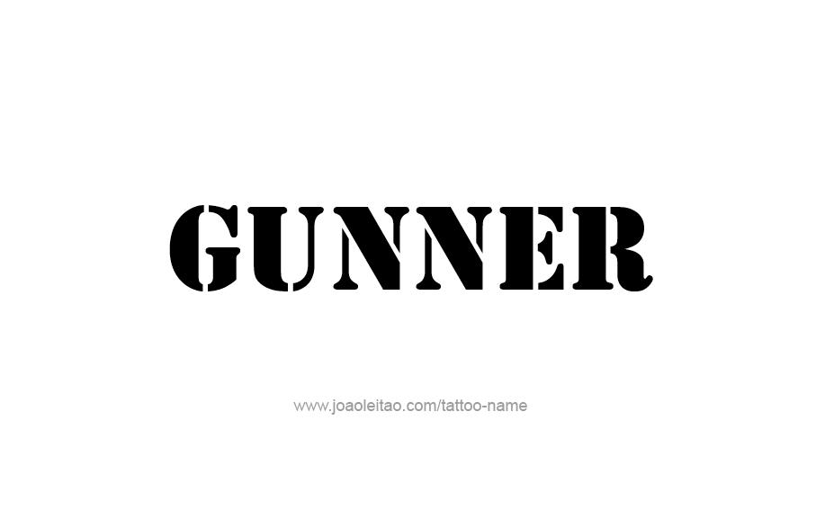 Gunner Name Tattoo Designs | BELLAIRE | Name tattoo designs