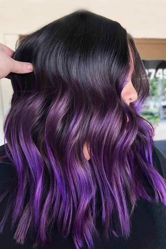 Color Trendy Hair Color Dark Purple Hair And Everything You Need