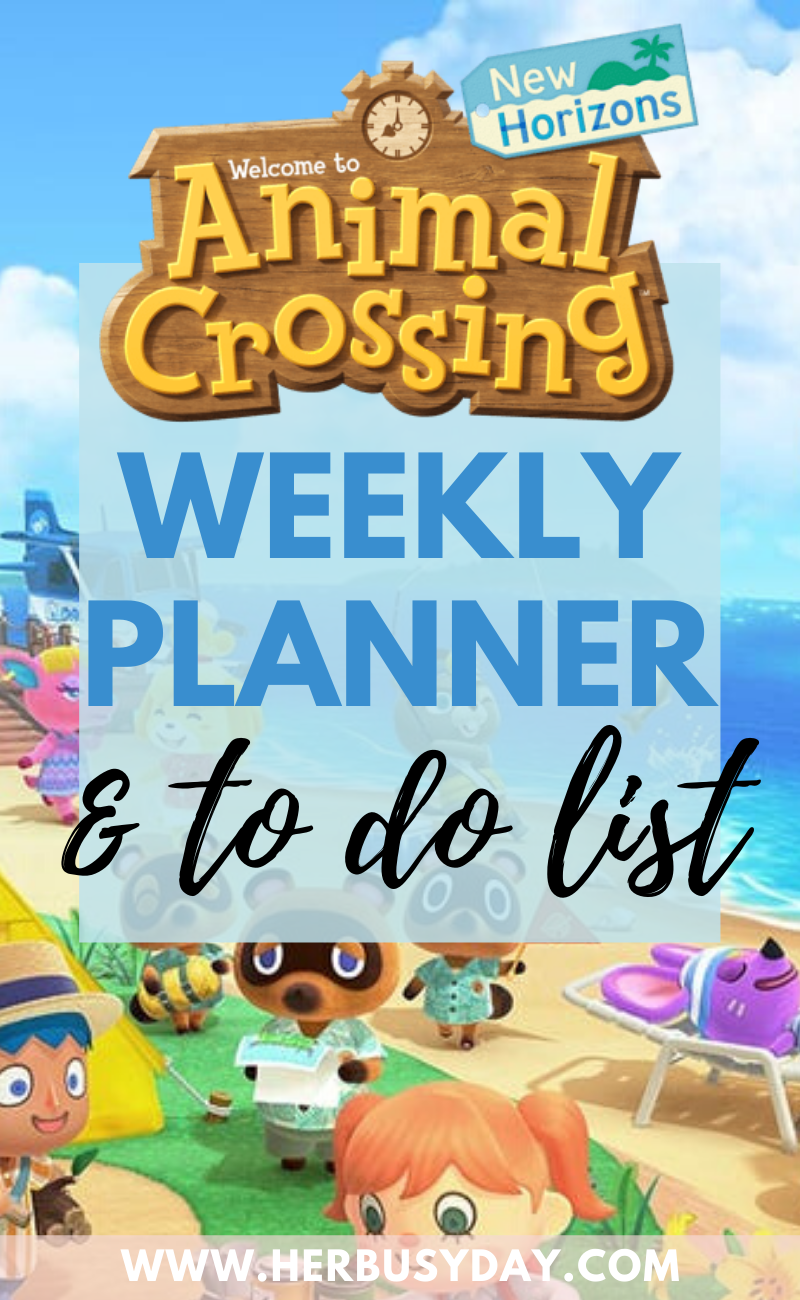 Free Animal Crossing New Horizons Weekly Planner and To Do