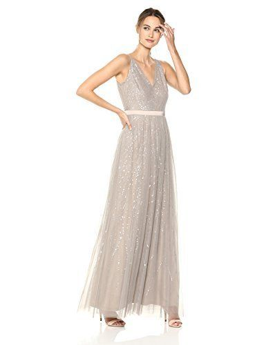 de7bfe9586a Adrianna Papell Women s Beaded Sleeveless Modified Mermaid Skirt Long Dress   dresses  longdress  mermaiddress