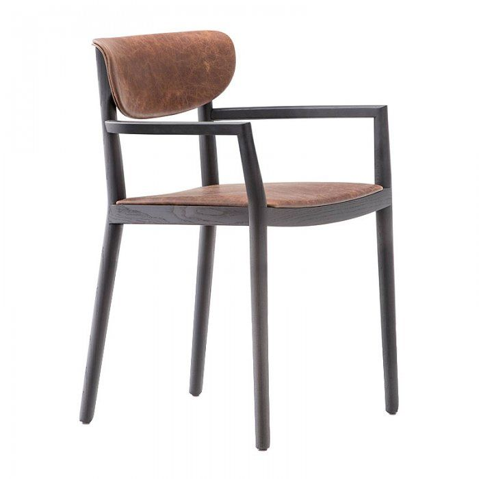 Howie Arm Chair Industrial Leather