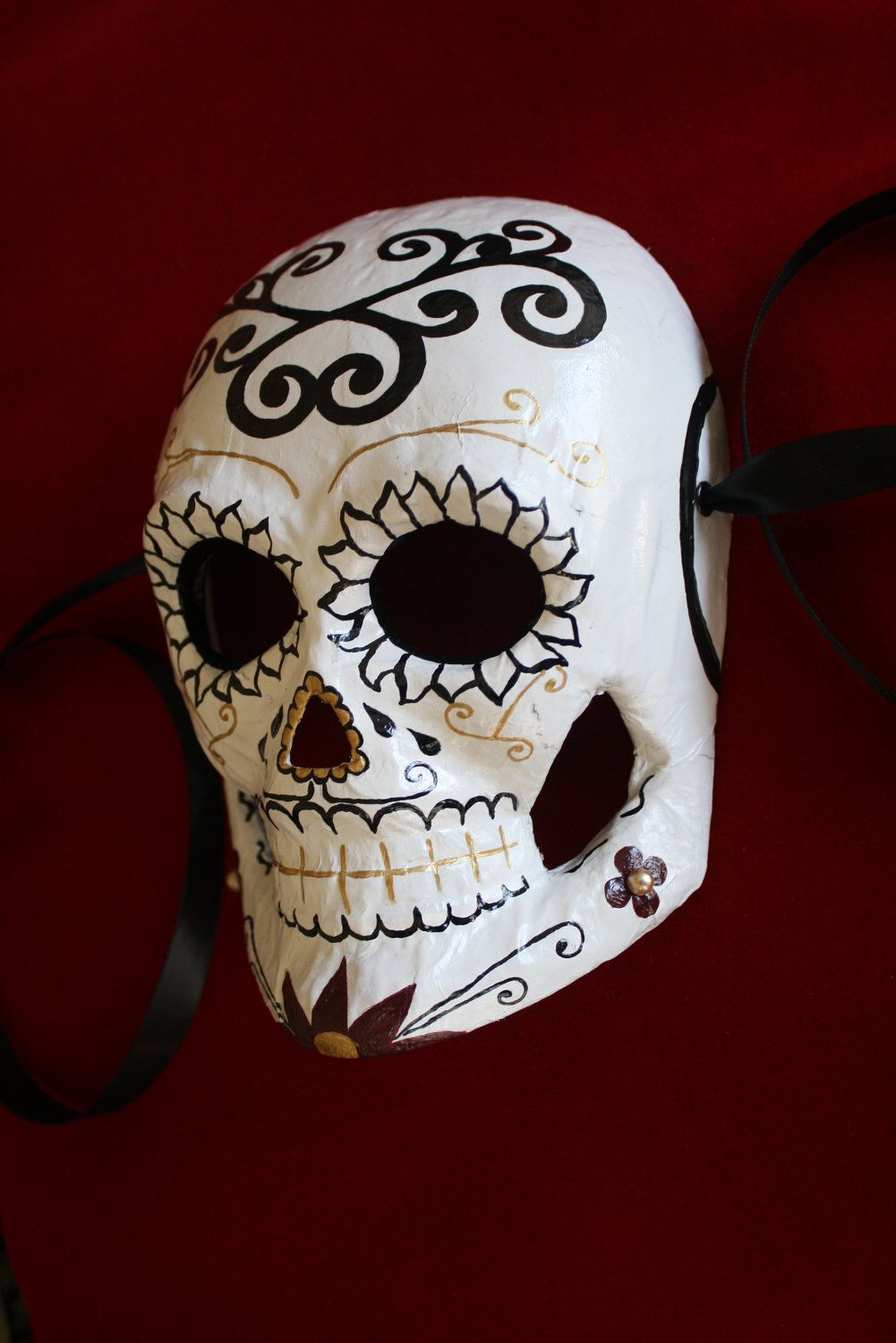 day of the dead sugar skull halloween mask dia de los muertos wall