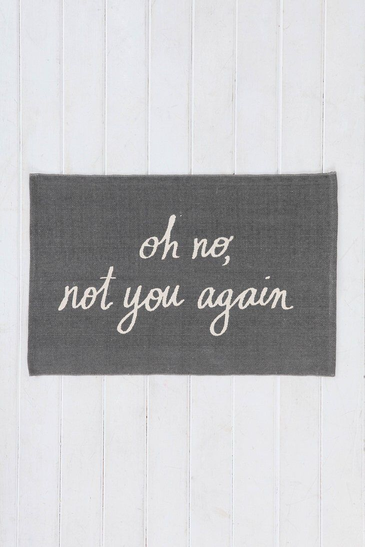 "Urban Outfitters is killing it! I need this ""welcome"" mat!"